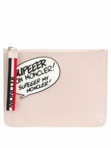 Moncler comic clutch - Pink