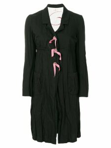 Romeo Gigli Pre-Owned creased midi coat - Black