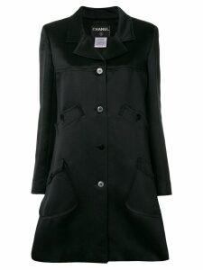 Chanel Vintage multiple pockets flared coat - Black