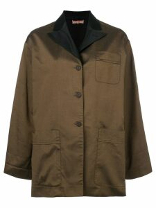 Romeo Gigli Pre-Owned peaked lapels boxy jacket - Brown