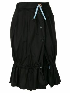 Romeo Gigli Pre-Owned side slit gathered skirt - Black
