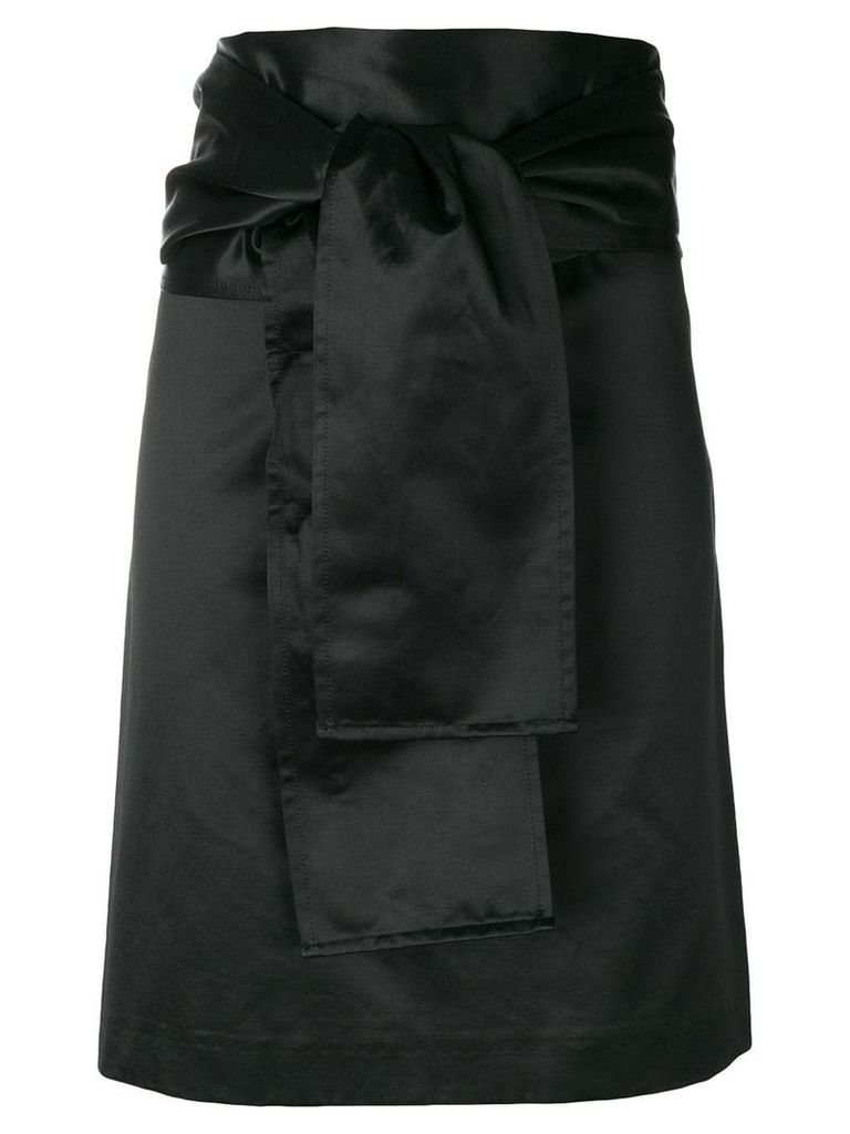 Romeo Gigli Vintage belted straight skirt - Black