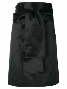 Romeo Gigli Pre-Owned belted straight skirt - Black