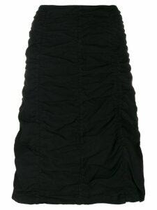 Romeo Gigli Pre-Owned gathered short skirt - Black