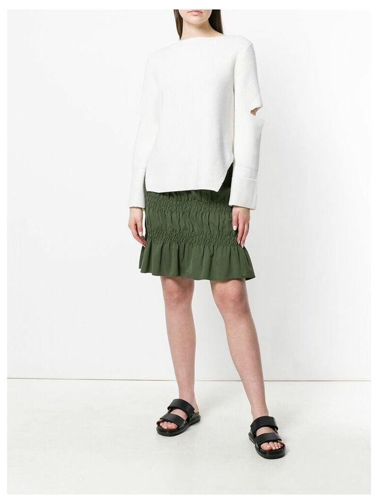 Romeo Gigli Vintage gathered short skirt - Green
