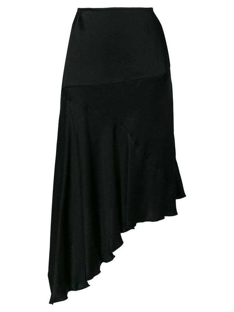 Romeo Gigli Vintage fluid asymmetric skirt - Black