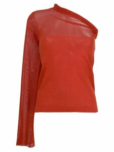 Romeo Gigli Pre-Owned single sleeve blouse - Red
