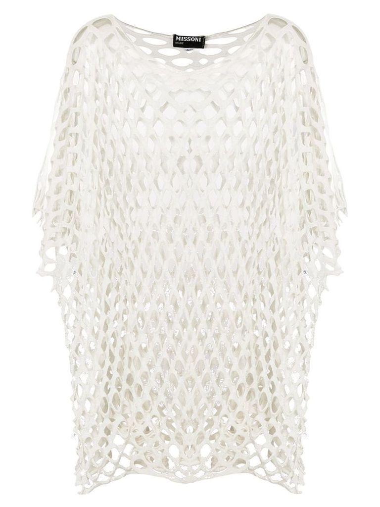 Missoni Vintage net shift blouse - White