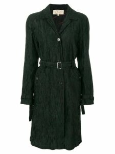 ROMEO GIGLI PRE-OWNED pleated belted coat - Black