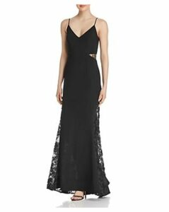 Avery G Lace-Inset Gown