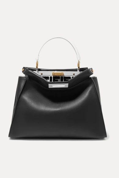 Fendi - Peekaboo Leather Tote - Black