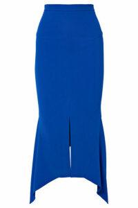 Roland Mouret - Milton Asymmetric Stretch-jersey Midi Skirt - Blue