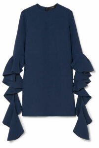 Ellery - Kilkenny Ruffled Crepe Mini Dress - Navy