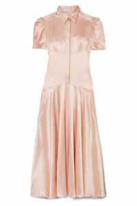 Hillier Bartley - Plimpton Silk-satin Midi Dress - Baby pink