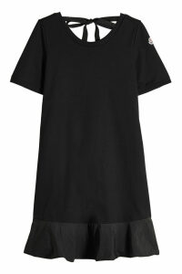 Moncler Cotton Dress with Self-Tie Back