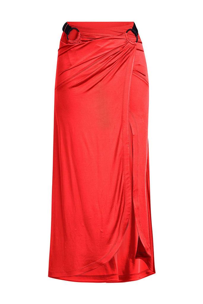 Paco Rabanne Asymmetric Jersey Skirt