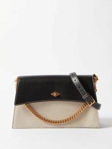 Marco De Vincenzo - Contrast Panel Silk Crepe De Chine Dress - Womens - Orange Print