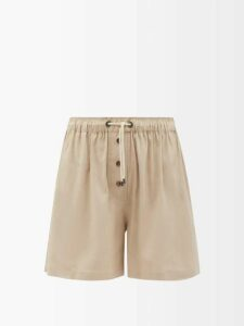 Marques'almeida - Dragon Print Asymmetric Cotton Skirt - Womens - White Multi