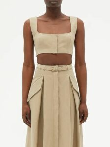 Zimmermann - Jaya Wave Cotton Top - Womens - Burgundy