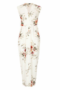 Izabel London Multi White V-Neck Floral Maxi Dress