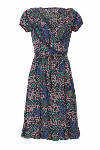 Izabel London Multi Navy Ditsy Floral Tea Dress