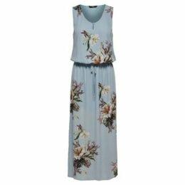 Only  VESTIDO  onlCARLA S/L LONG DRESS WVN  women's Long Dress in Blue