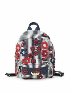 Stripe and Floral Backpack