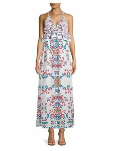 Ruffled Floral Maxi Dress