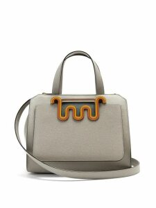 Valextra - Passepartout Medium Leather Bag - Womens - Light Blue