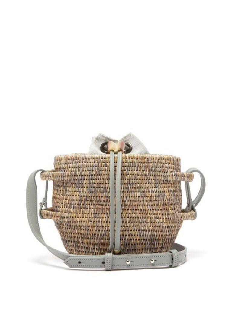 Khokho - Thembi Drawstring Top Basket Bag - Womens - Light Grey