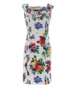 Floral Pixel Print Dress