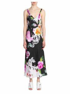 Off-White Silk Dress