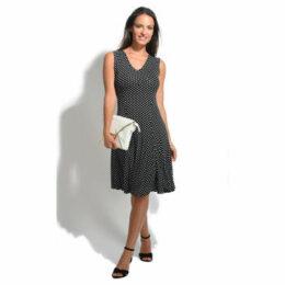 100 % Lin  Dress  women's Dress in Black