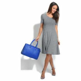 100 % Lin  Dress  women's Dress in Blue