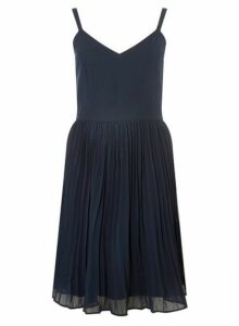 Womens **Vero Moda Navy Midi Fit And Flare Dress- Navy, Navy
