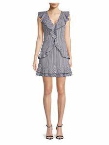 Stripe Cotton Sheath Dress