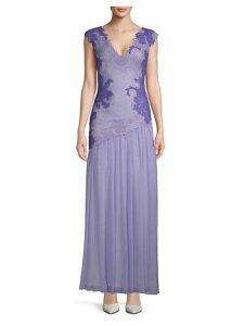 Lace Chiffon Gown