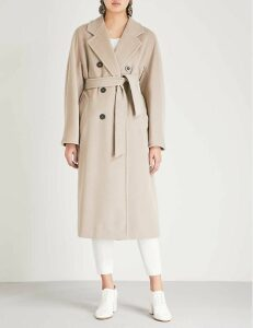 Madame double-breasted wool and cashmere-blend coat