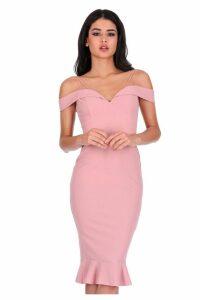 Womens AX Paris Strappy Bodycon Midi Dress -  Pink