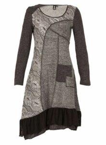 Womens *Izabel London Multi Grey Printed Knit Dress- Grey, Grey