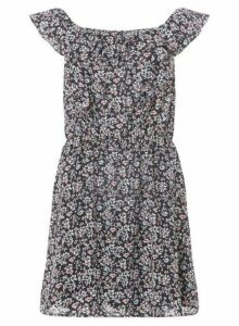 Womens **Only Multi Colour Fit And Flare Dress- Multi Colour, Multi Colour