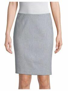 Aspen Pinstripe Pencil Skirt