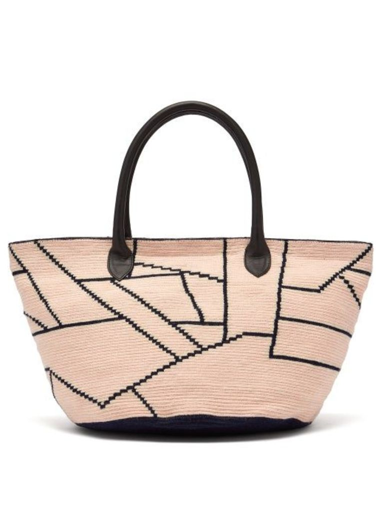 Sophie Anderson - Celio Woven Crochet Bag - Womens - Pink Multi