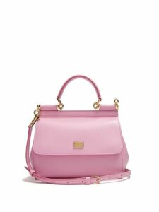 Dolce & Gabbana - Sicily Small Dauphine Leather Bag - Womens - Light Pink
