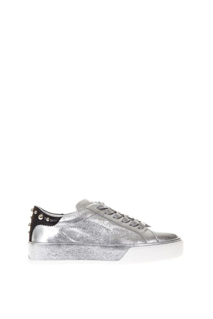 Hogan Silver Rebel 320 Sneakers In Leather
