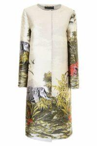 Alberta Ferretti Printed Coat
