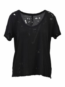 Ben Taverniti Unravel Project Crewneck T-shirt Rips