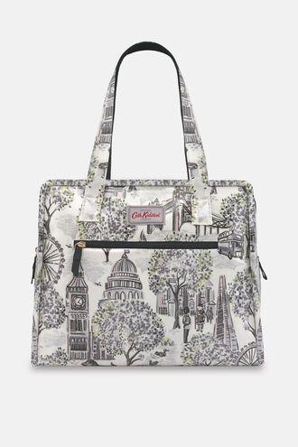 London Toile Large Pandora Bag