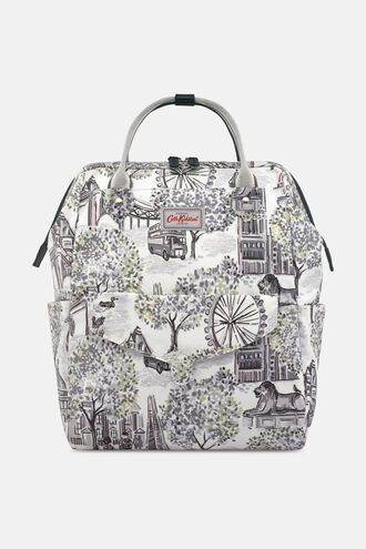 London Toile Frame Backpack
