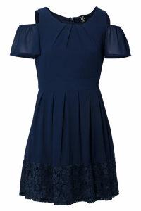 Izabel London Cold Shoulder Tea Dress